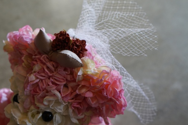 Bear brown& Bear pink  set (wedding)